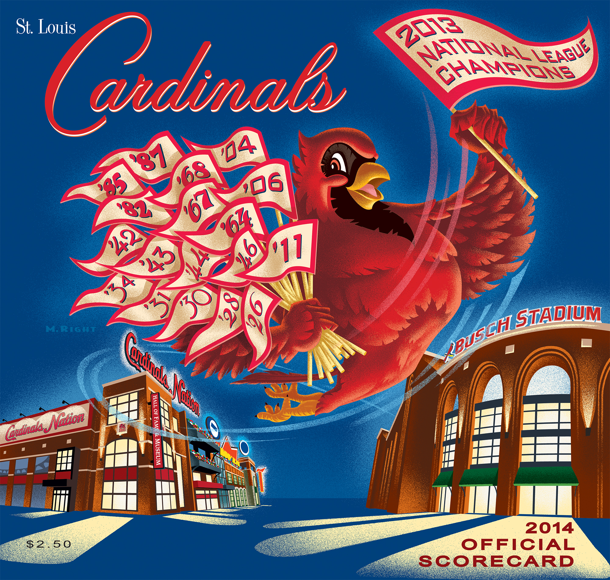 2014 Cardinals Official Scorecard