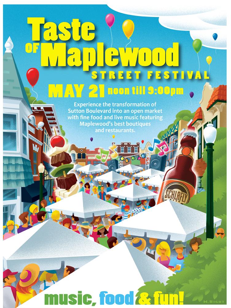 Taste of Maplewood 2011 Poster Art