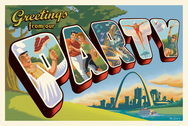 St. Louis Aid Foundation Invite Art