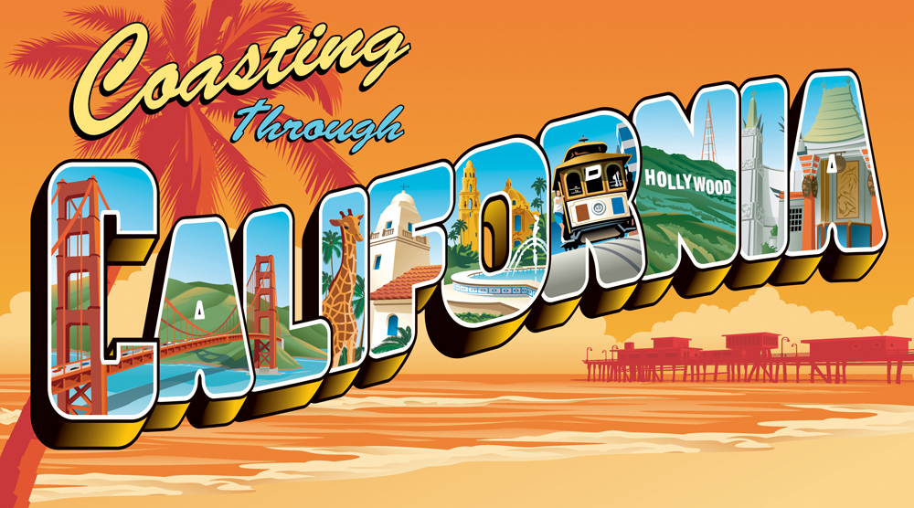 AAA California Magazine Art