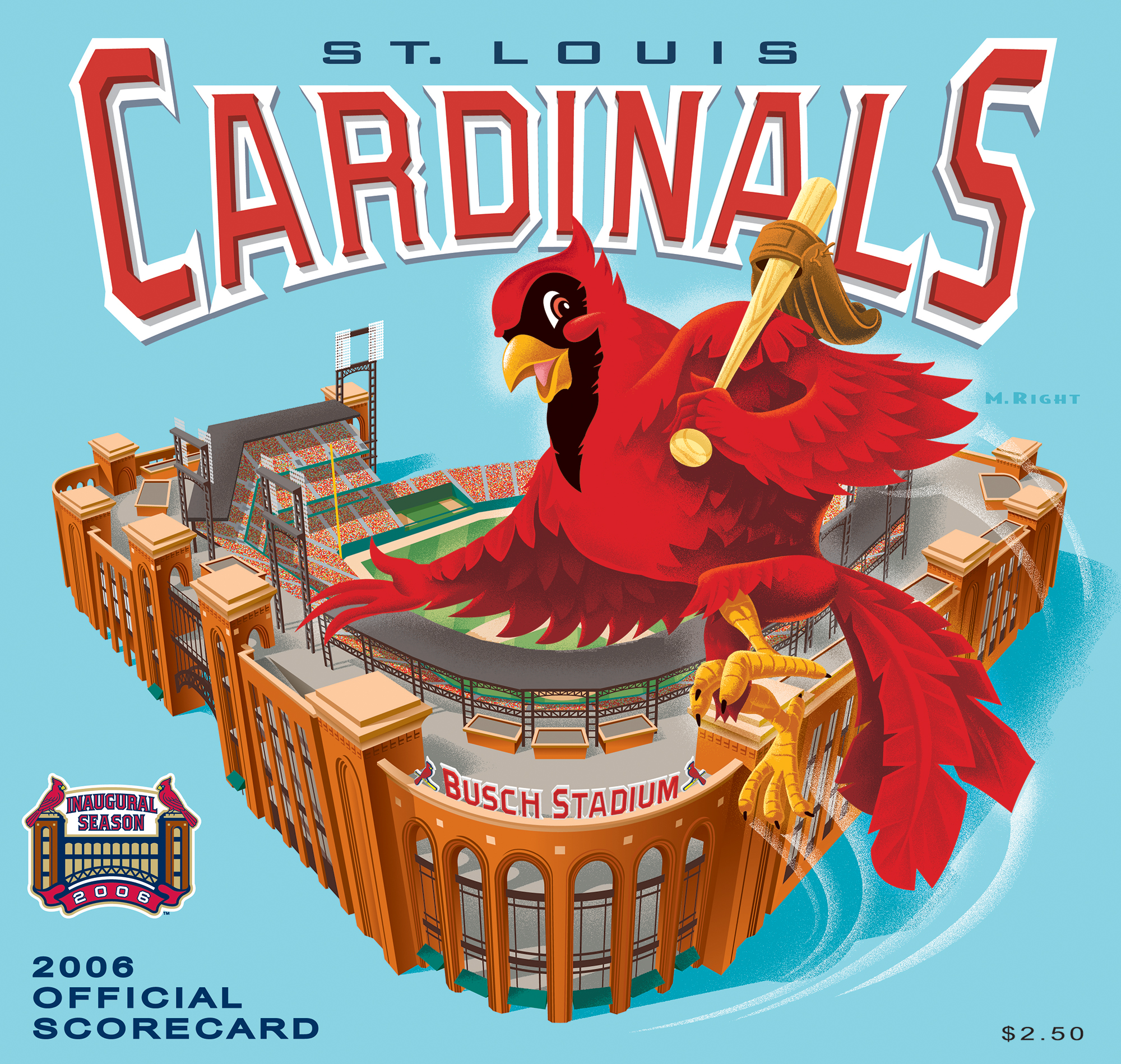 2006 Cardinals Official Scorecard