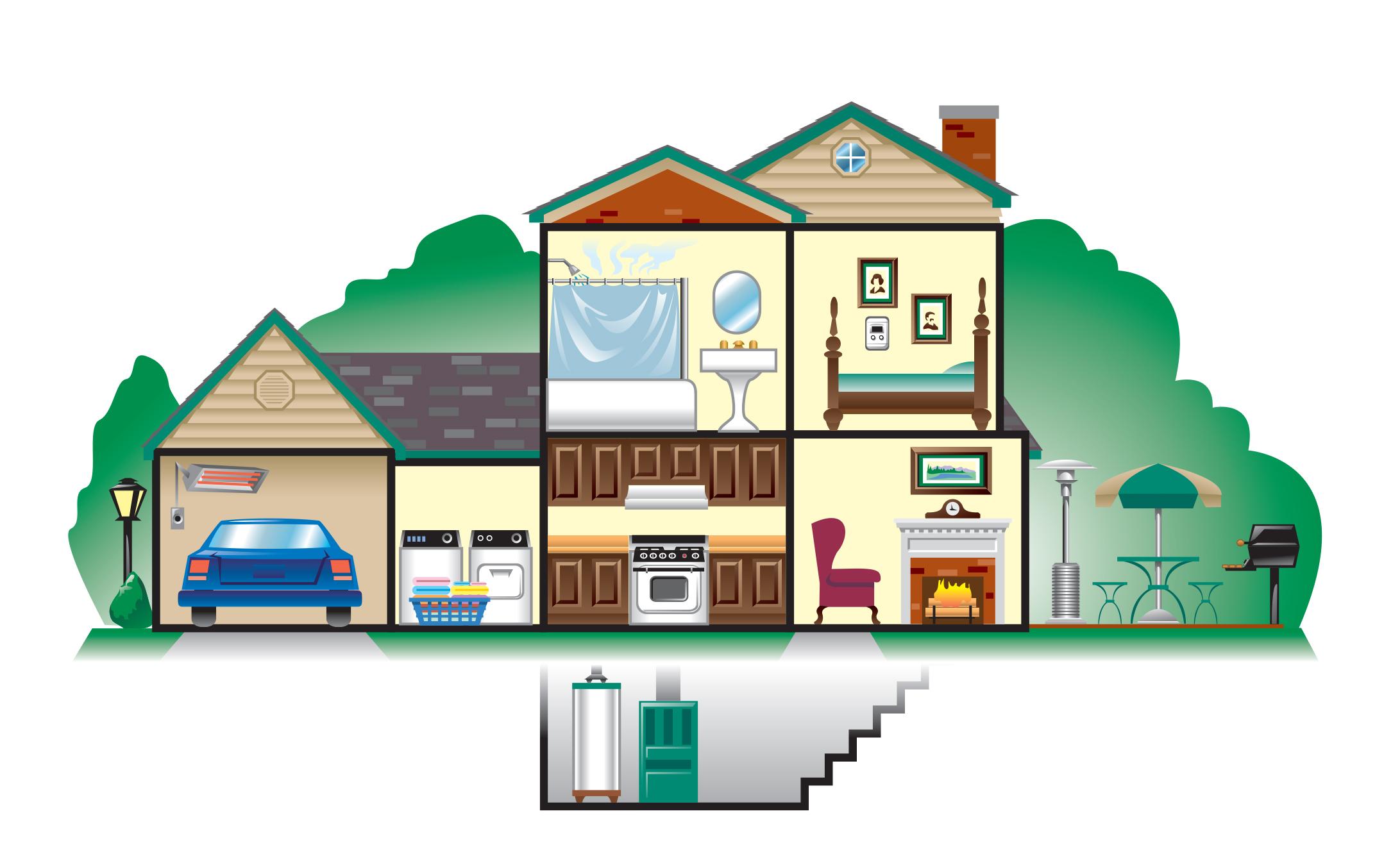 Laclede Gas House Line Art