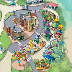 SeaWorld Sesame Street Map Art