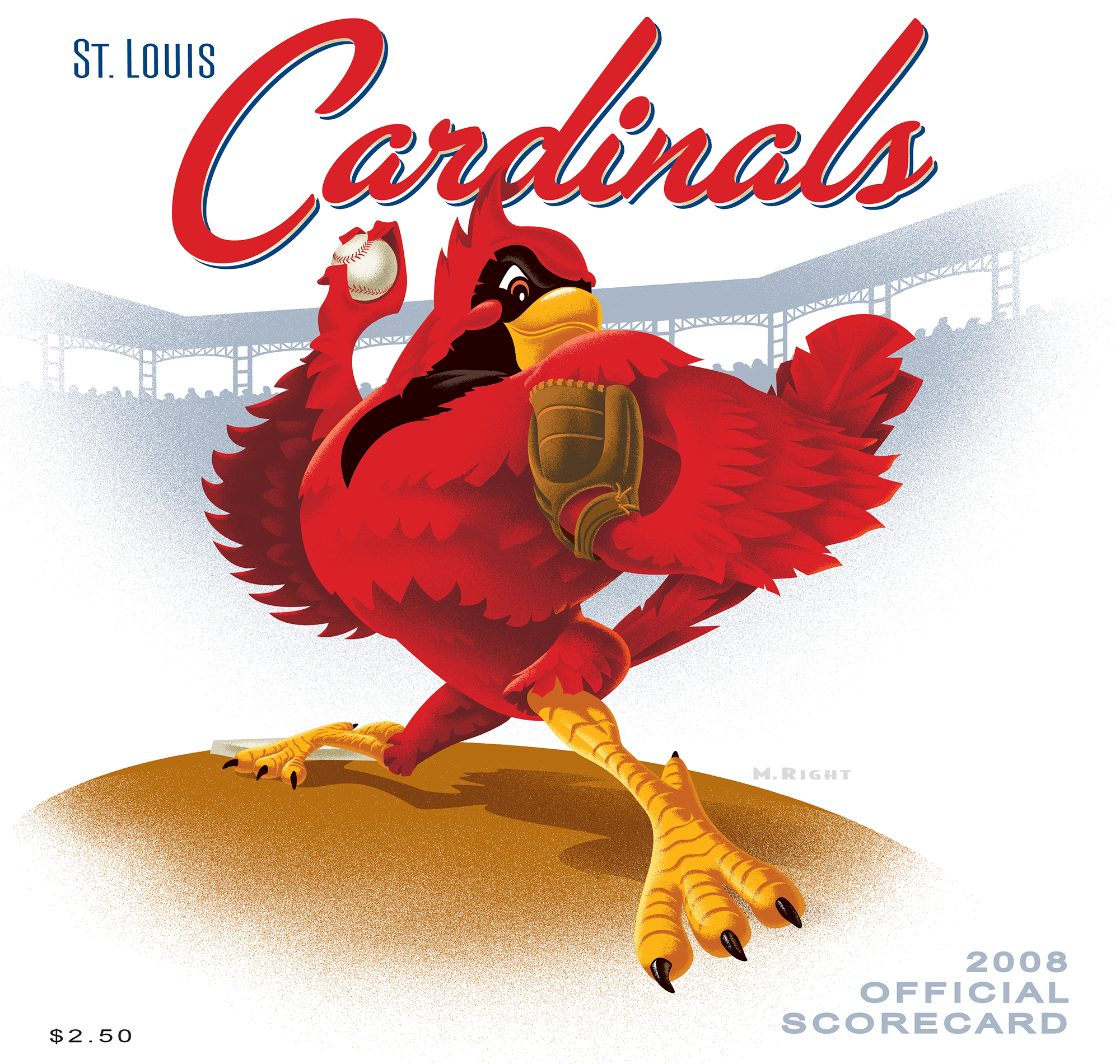 2008 Cardinals Official Scorecard
