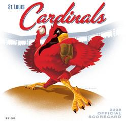 2008 Cardinals Official Scorecard