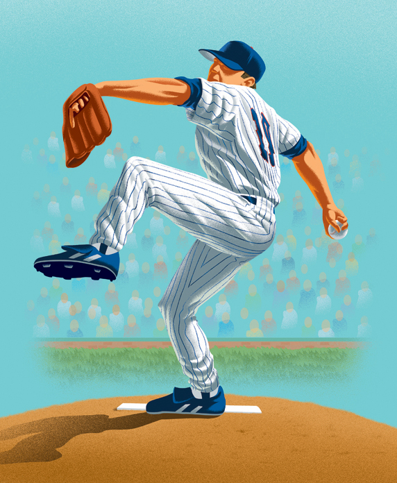 Metlife Pitcher Illustration