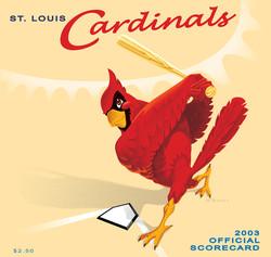 2003 Cardinals Official Scorecard