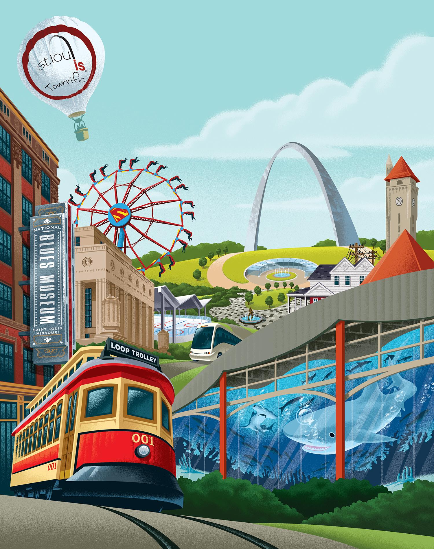 Explore STL What's New St. Louis Ad Art