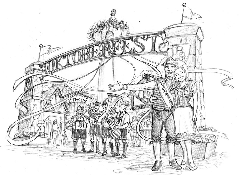 Oktoberfest Key Visual for Busch Gardens
