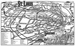 AAA St. Louis Map Art