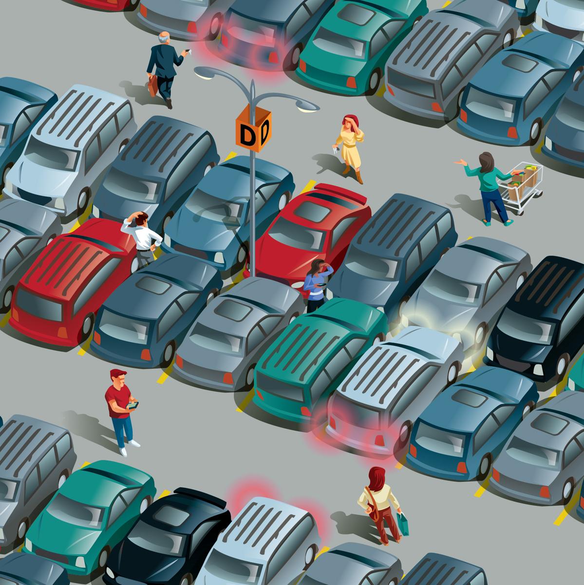 Wall Street Journal Parking Lot Illustra