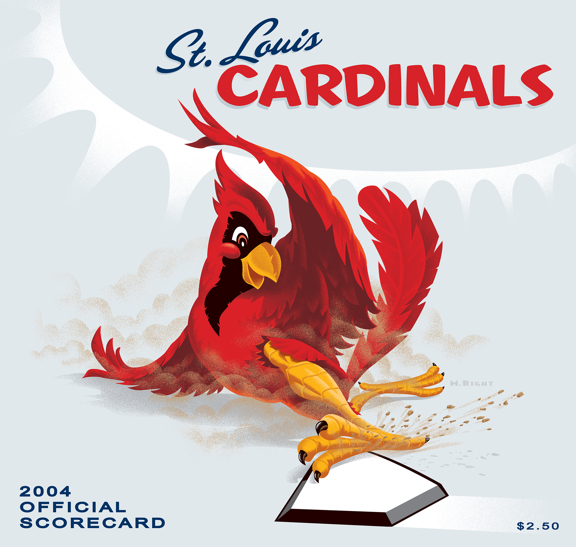 2004 Cardinals Official Scorecard