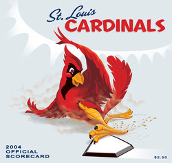 2004 Cardinals Official Scorecard