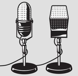 Microphone Line Art