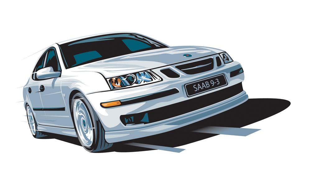 Saab Illustration