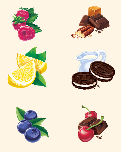 Fruit Flavor Package Icons