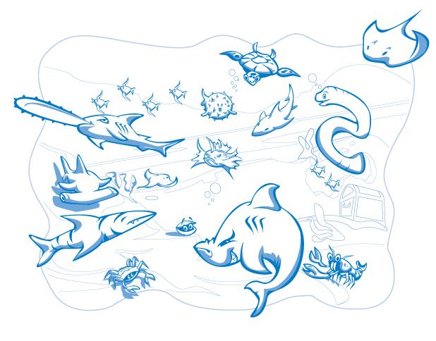 Seaworld Fish Illustration