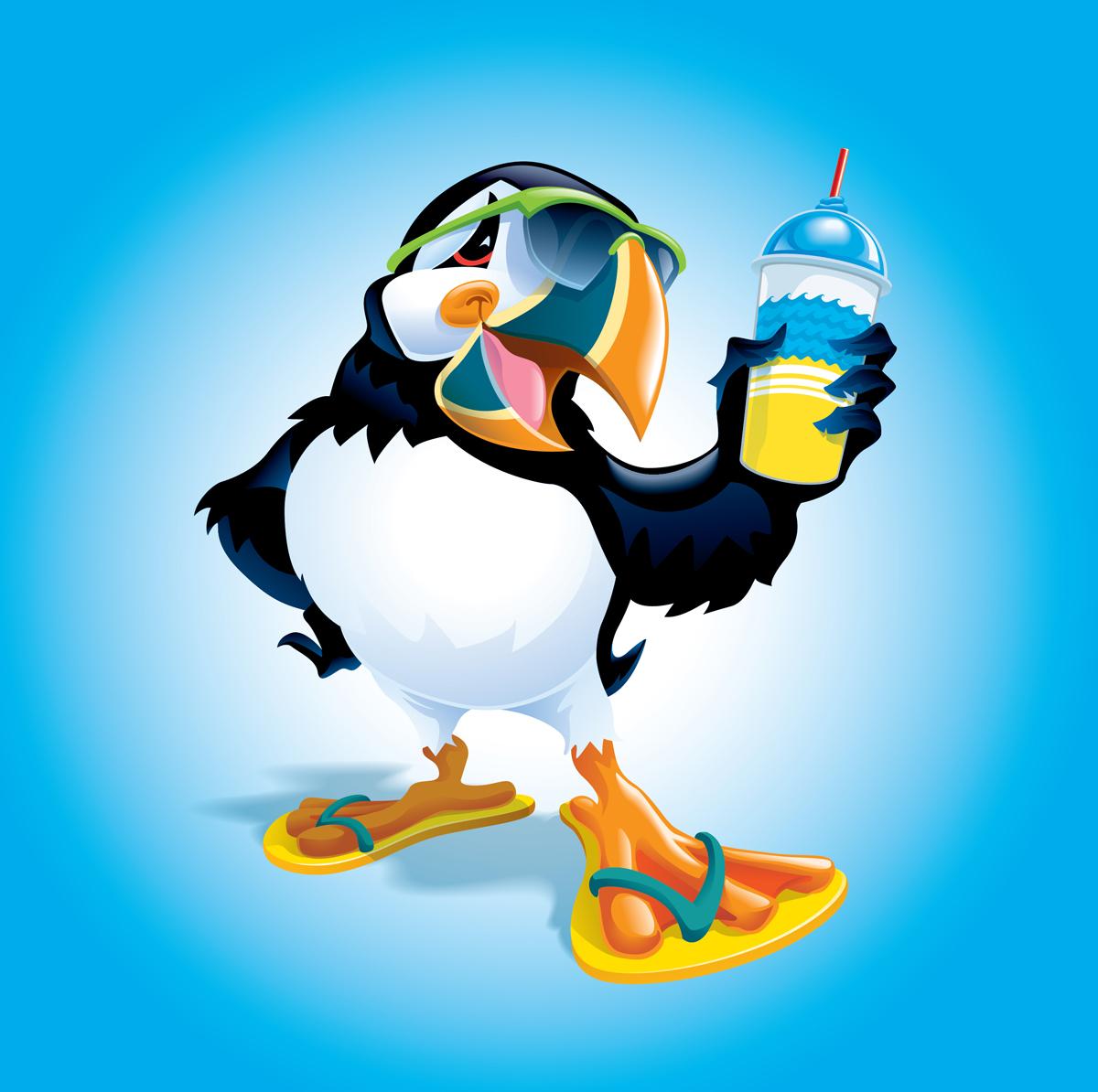 Puffin Frozen Drink Art