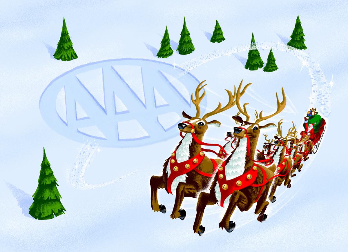AAA Christmas Card Illustration