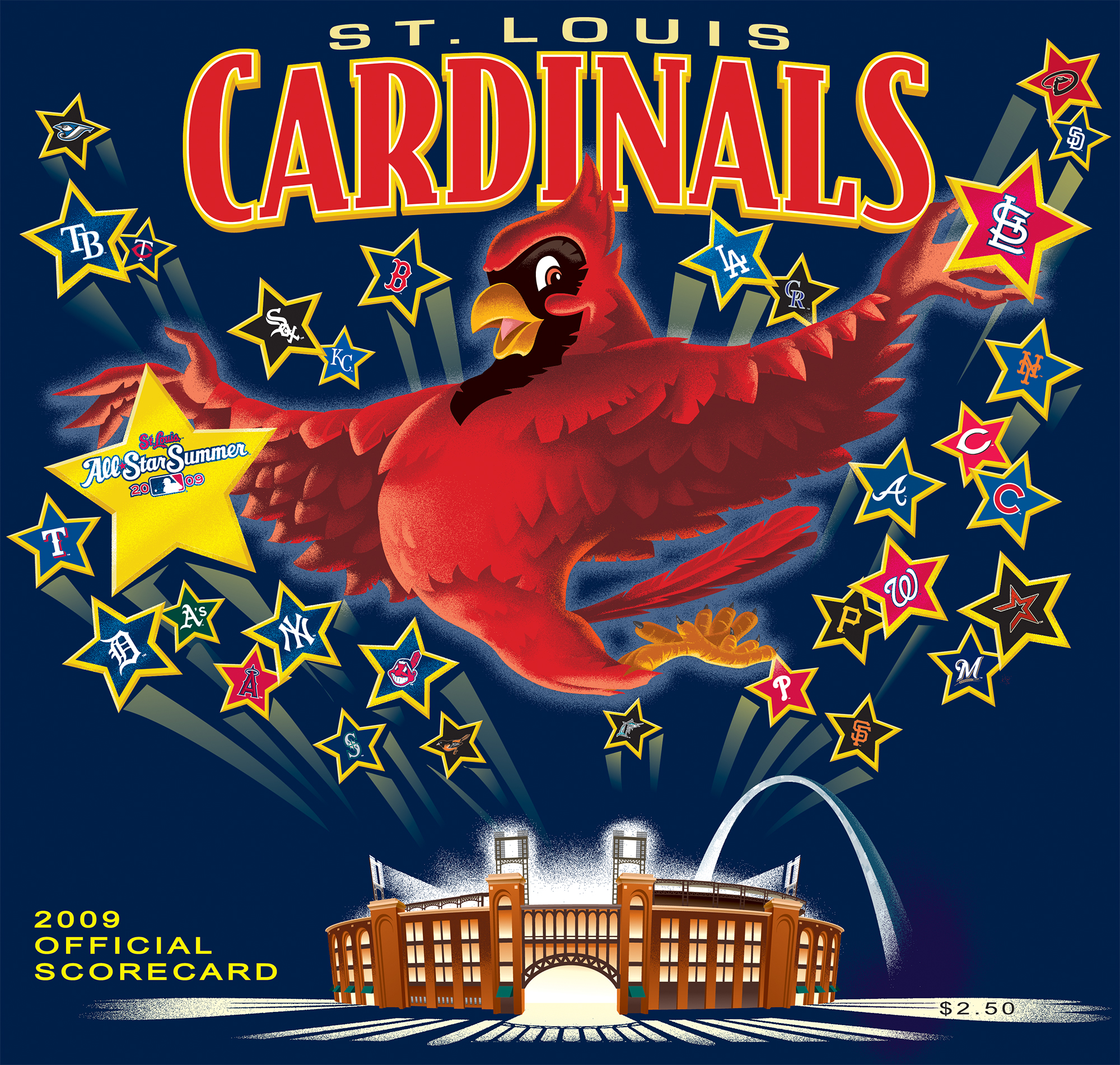 2009 Cardinals Official Scorecard