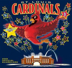 2009 Cardinals Official Scorecard