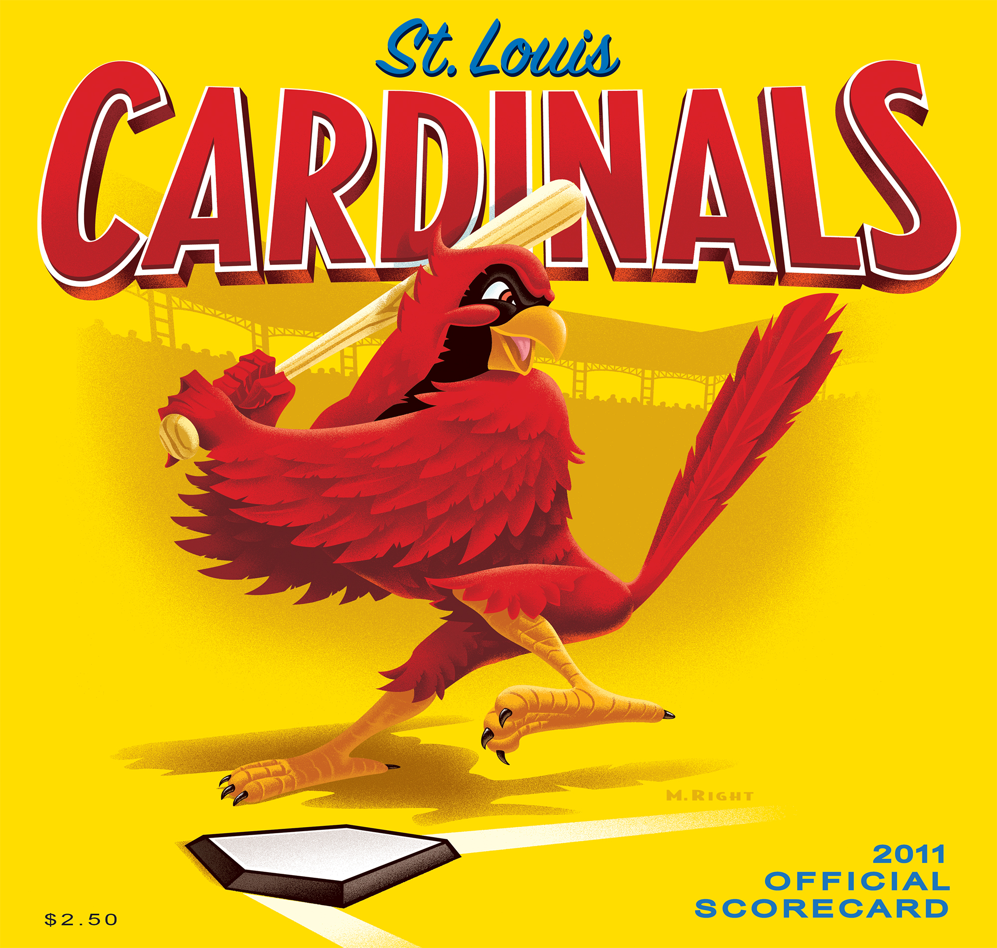 2011 Cardinals Official Scorecard