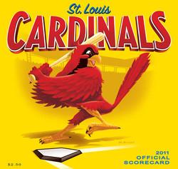 2011 Cardinals Official Scorecard