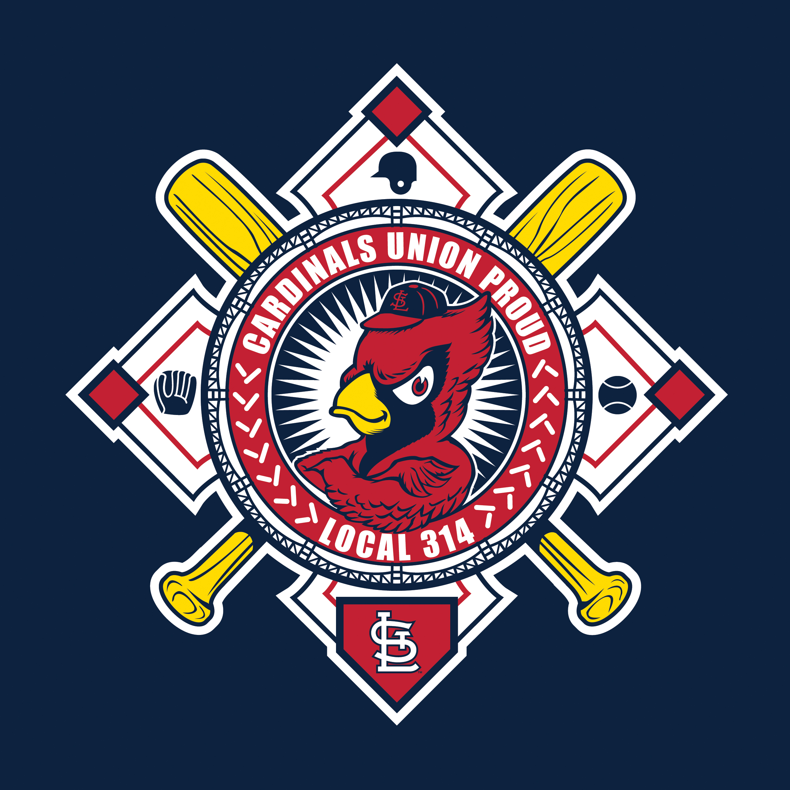 Cardinals Union Night Theme Art