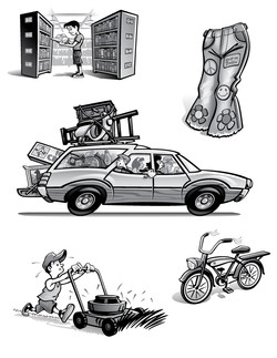American Pickers Kids Book Illustration