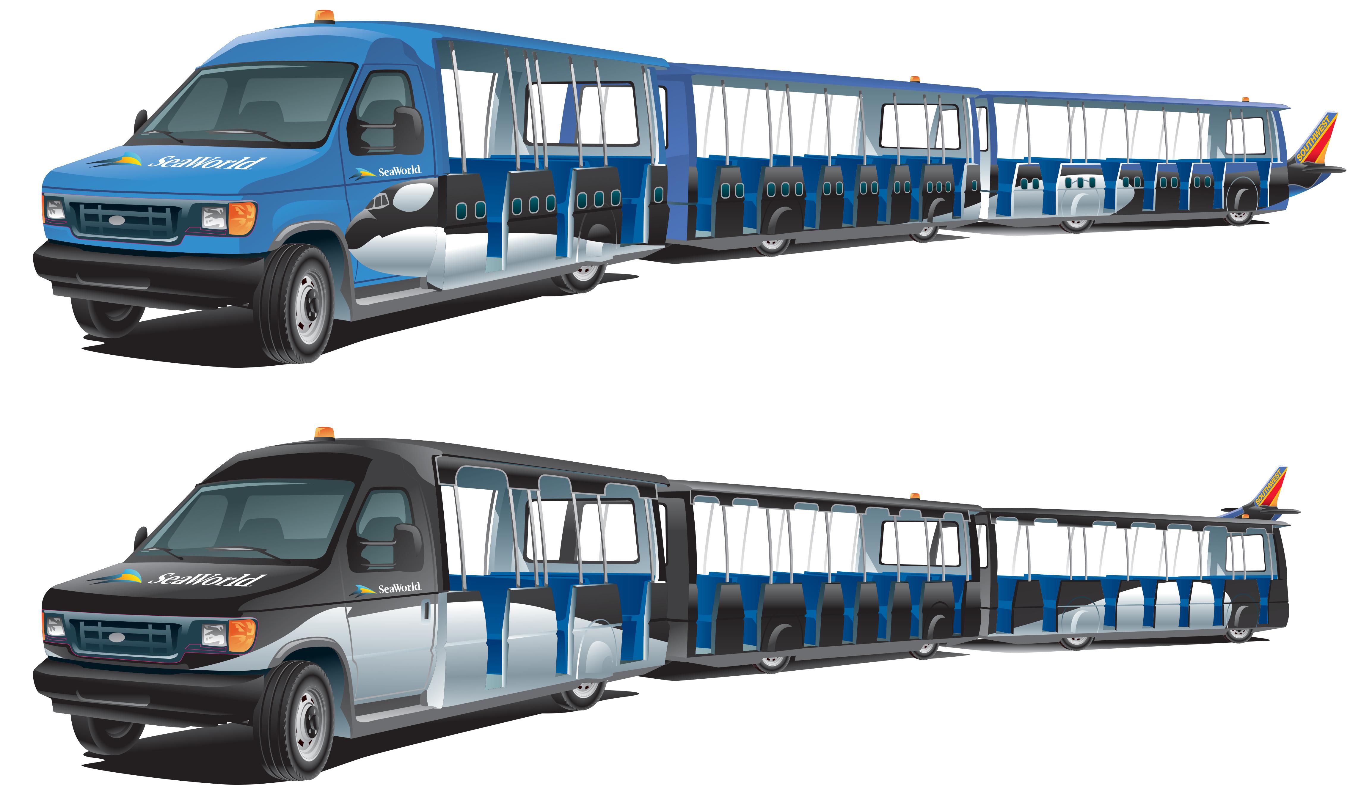 Seaworld Tram Concept Art