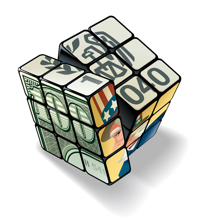 Wall Street Journal Tax Rubiks Cube