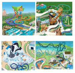 Busch Gardens Ride Attractions