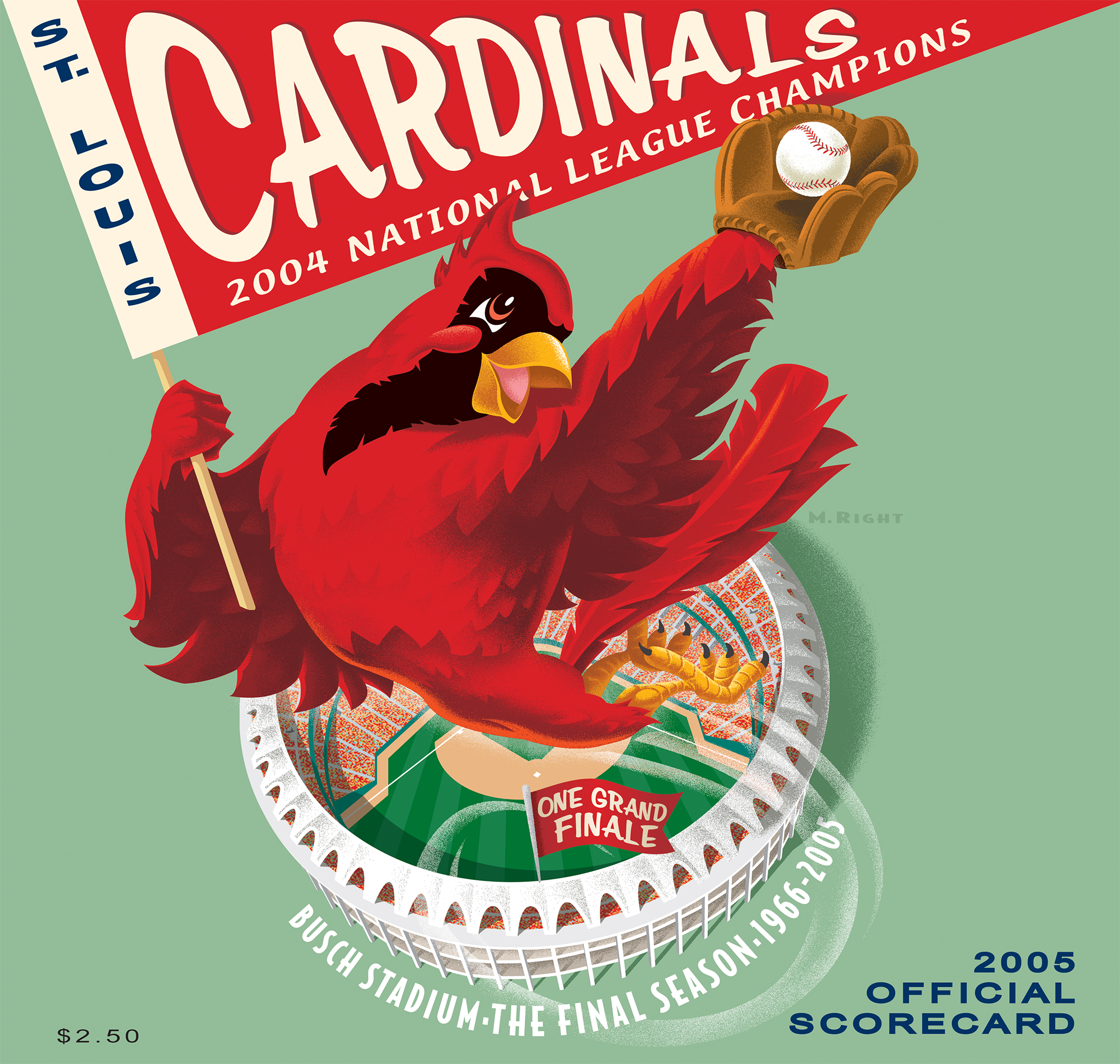2005 Cardinals Official Scorecard