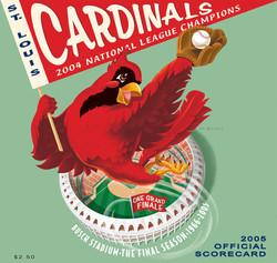 2005 Cardinals Official Scorecard