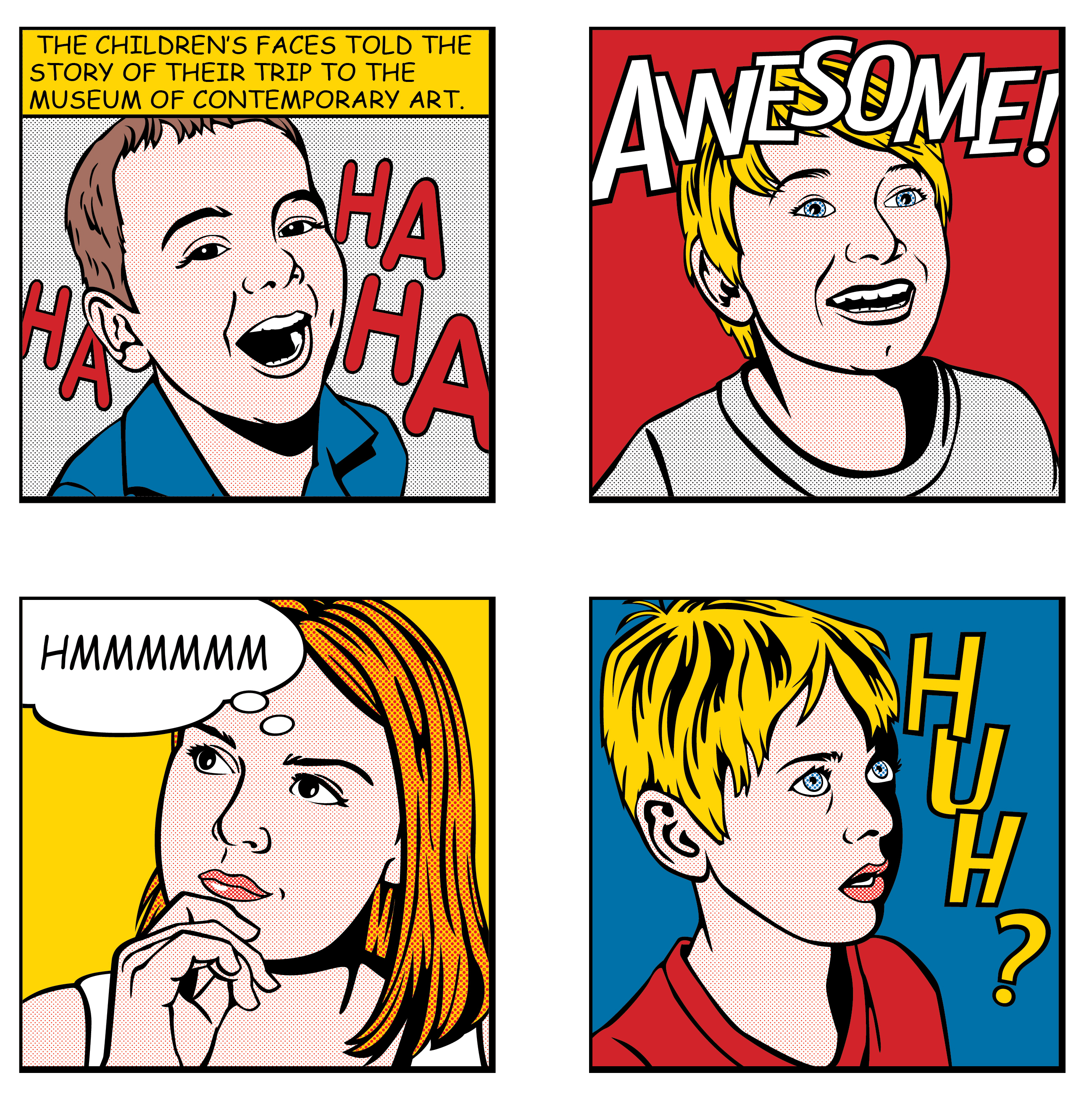 My Kids Lichtenstein Calendar Art