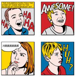 My Kids Lichtenstein Calendar Art