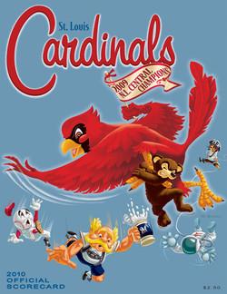 2010 Cardinals Official Scorecard