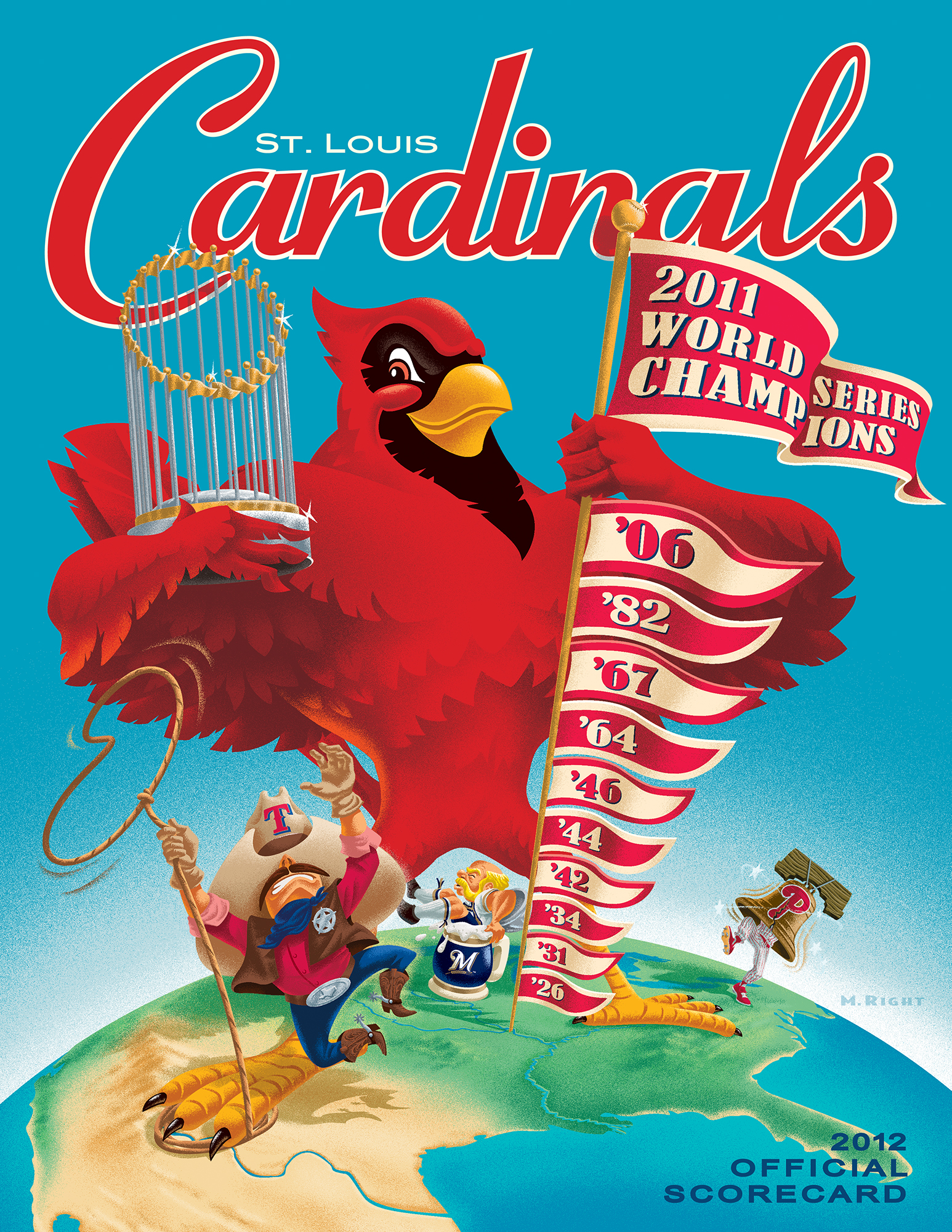 2012 Cardinals Official Scorecard