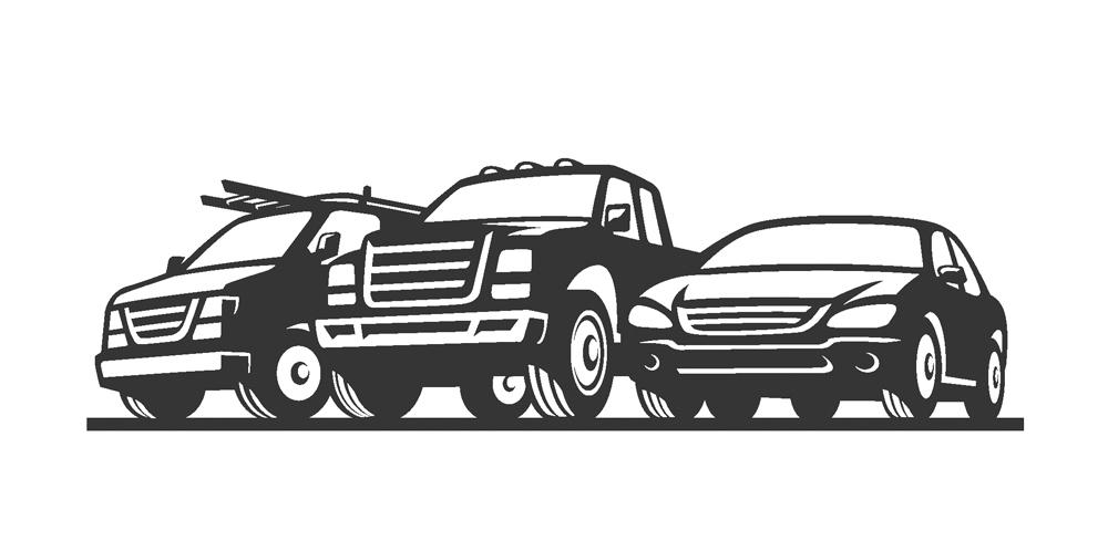 Car Truck Van Rent-a-car Illustration