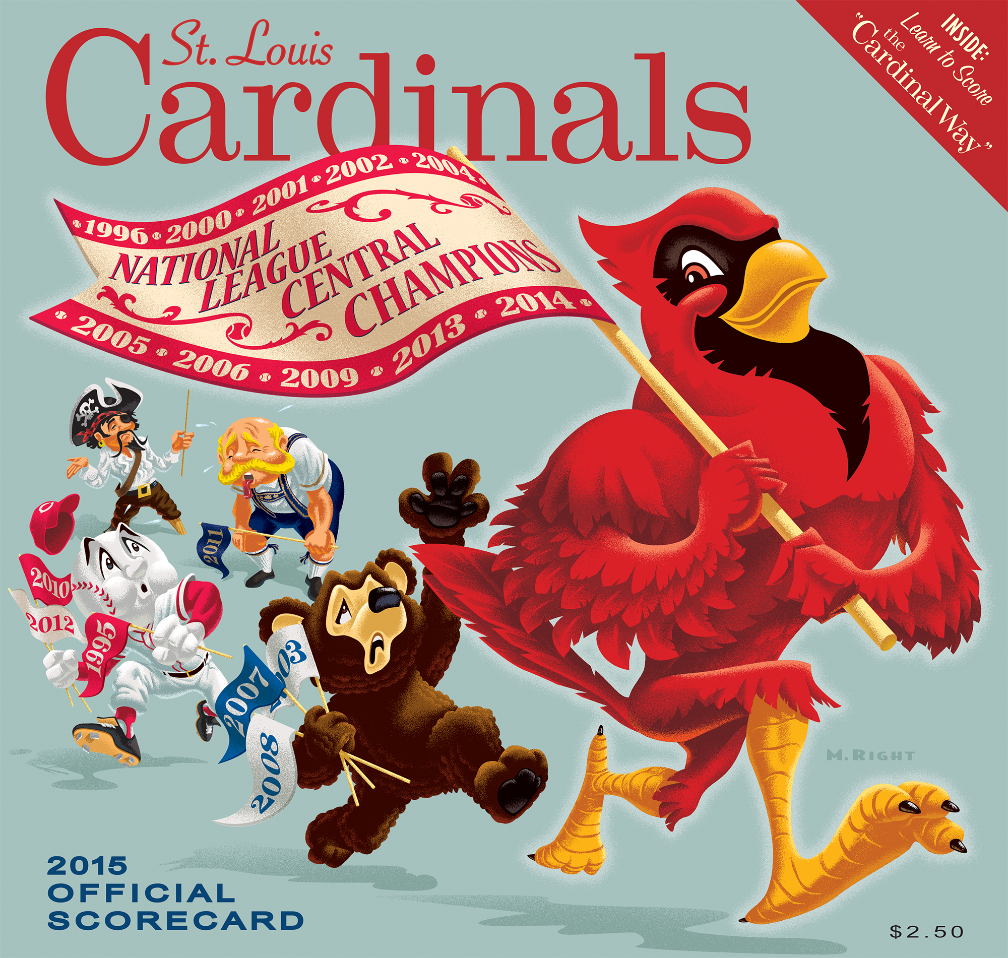 2015 Cardinals Official Scorecard