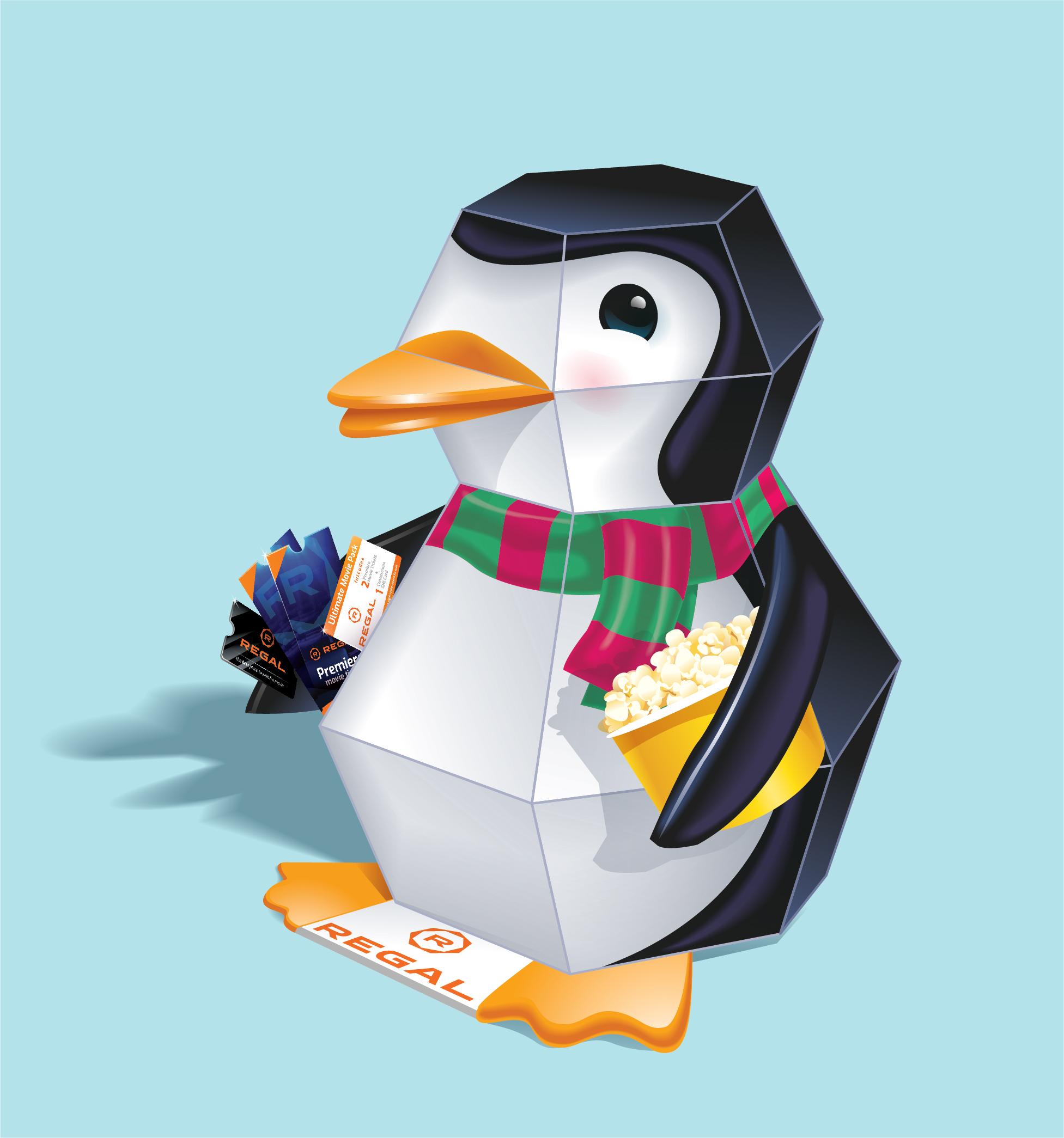 Regal Cinema pop-up penguin