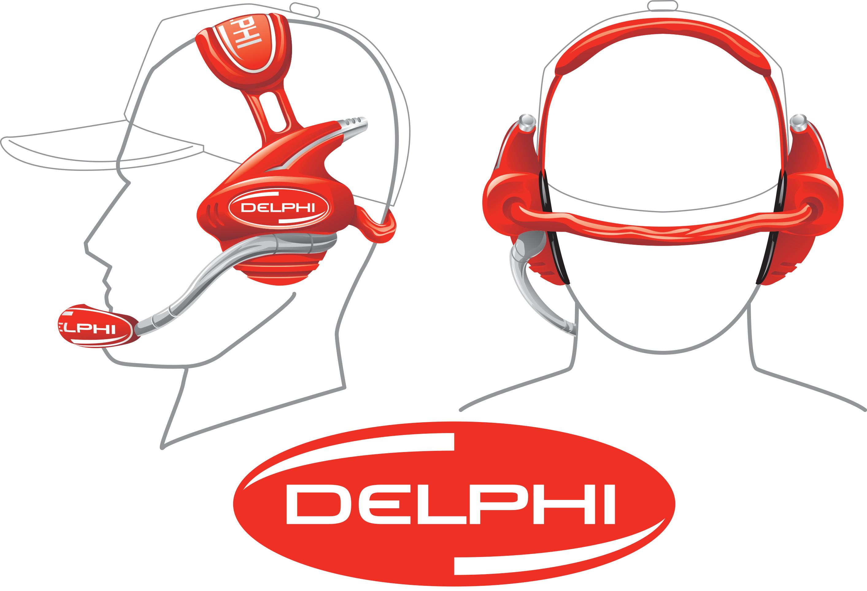 Delphi Headset Line Art