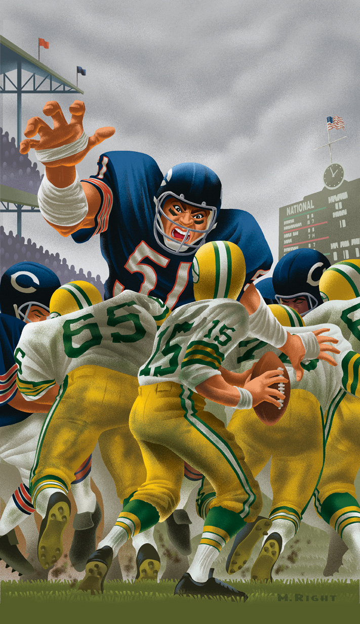 Chicago Bears Calendar Art