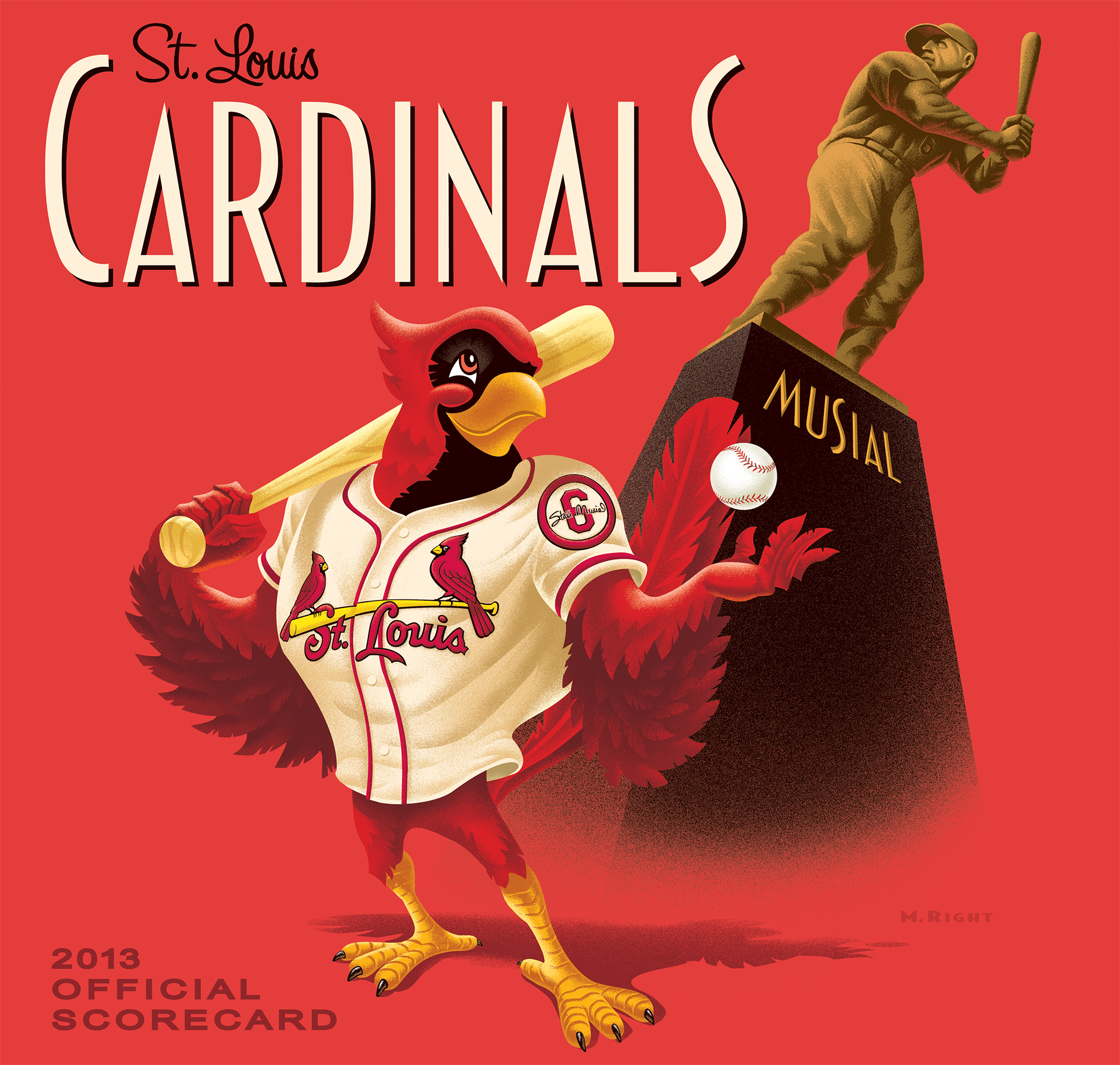 2013 Cardinals Official Scorecard