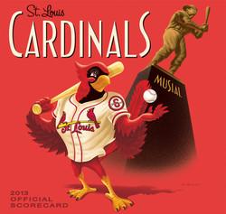 2013 Cardinals Official Scorecard