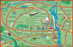 Casino Queen Map Illustration