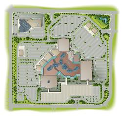 Overhead Mall Map Art