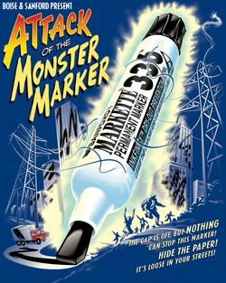 Boise Monster Marker Poster Mailer