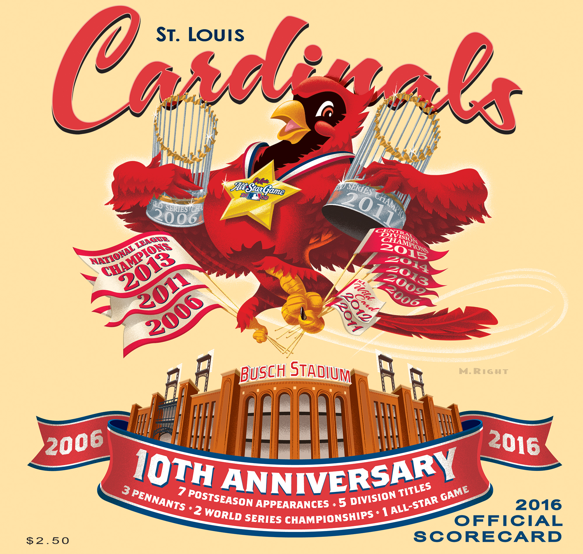 2016 Cardinals Official Scorecard