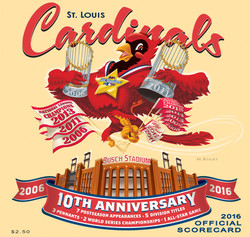 2016 Cardinals Official Scorecard